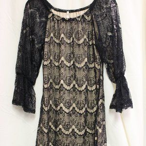 Mason & Belle Lace Little Black Dress Small